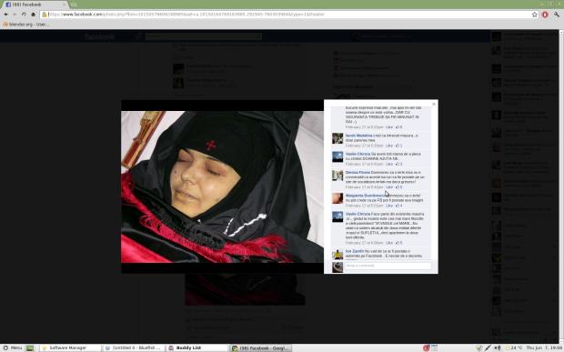 Captura de ecran - Imaginea mortii pe Facebook